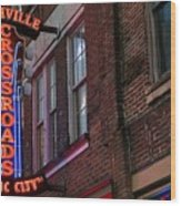Nashville Crossroads Music City  Wood Print