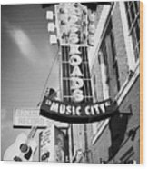 nashville crossroads music city ernest tubbs record shop on broadway downtown Nashville Tennessee US Wood Print