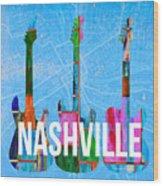 Nashville Guitars Wood Print
