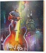 Nashville Nights 01 Wood Print