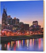 Nashville Southern Nights Wood Print