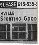 Nashville Sporting Goods Wood Print