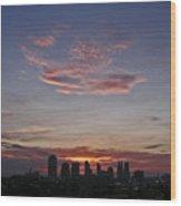 Nashville Sunrise Wood Print
