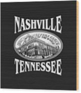 Nashville Tennessee Design Wood Print