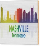 Nashville Tn 1 Vertical Wood Print