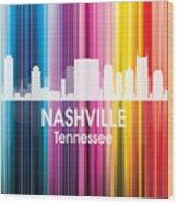 Nashville Tn 2 Squared Wood Print