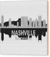 Nashville Tn 4 Squared Wood Print