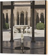 Nasrid Palaces Alhambra Granada Spain Europe Wood Print