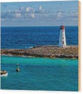 Nassau Harbor Lighthouse Wood Print