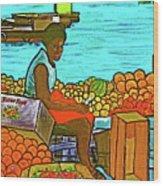 Nassau Fruit Seller At Waterside Wood Print