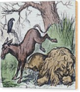 Nast: Democratic Donkey Wood Print