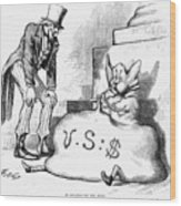 Nast: Inflation, 1873 Wood Print by Granger