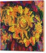Natalie Holland Sunflowers Wood Print