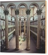 National Building Museum Interior Wood Print