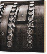National Cash Register Wood Print