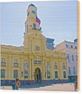 National History Museum On Plaza De Armas In Santiago-chile Wood Print