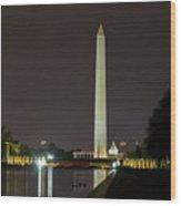 National Mall At Night Wood Print