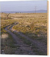 National Old Trails South Of Santa Fe Wood Print