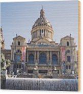 National Palace Barcelona Wood Print