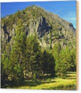 National Park Mountain Wood Print