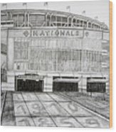 Nationals Park Wood Print