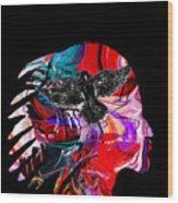 Native American Chief Wood Print
