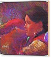 Native American - Boy Dancer Resting Wood Print
