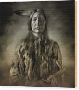 Native American Chief-scabby Bull 2 Wood Print