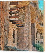 Native American Cliff Dwellings Wood Print