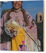 Native American Clothes Contest 1 Wood Print