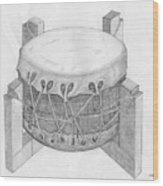 Native American Drum Wood Print