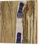 Native American Great Plains Indian Clothing Artwork Vertical 06 Wood Print
