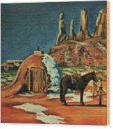 Native American Hogan Wood Print