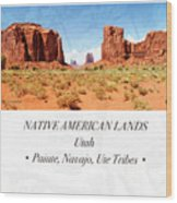 Native American Land, Monument Valley, Navajo Tribal Park Wood Print
