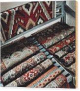 Native American Rugs Wood Print