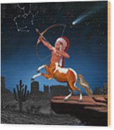 Native American Sagittarius Wood Print