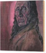Native American Study Wood Print