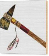 Native American Tomahawk Wood Print
