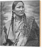 Native American Woman War Chief Pretty Nose Wood Print