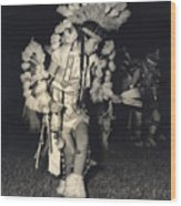 Native Dancer Wood Print