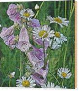Native Flowers Wood Print