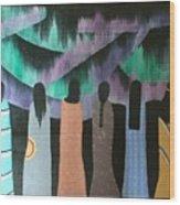 Native Northern Lights Moments Wood Print