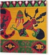 Native Tapestry Wood Print