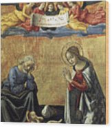 Nativity By Domenico Ghirlandaio Wood Print