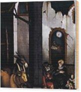 Nativity By Hans Baldung Grien Wood Print