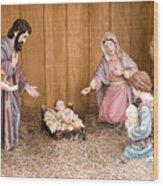 Nativity Scene Wood Print