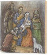 Nativity Wood Print by Walter Lynn Mosley
