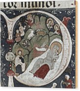 Nativity/croatian Wood Print
