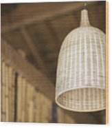 Natural Bamboo Interior Design Lampshade Detail Wood Print