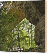 Natural Bridge Arch Wood Print